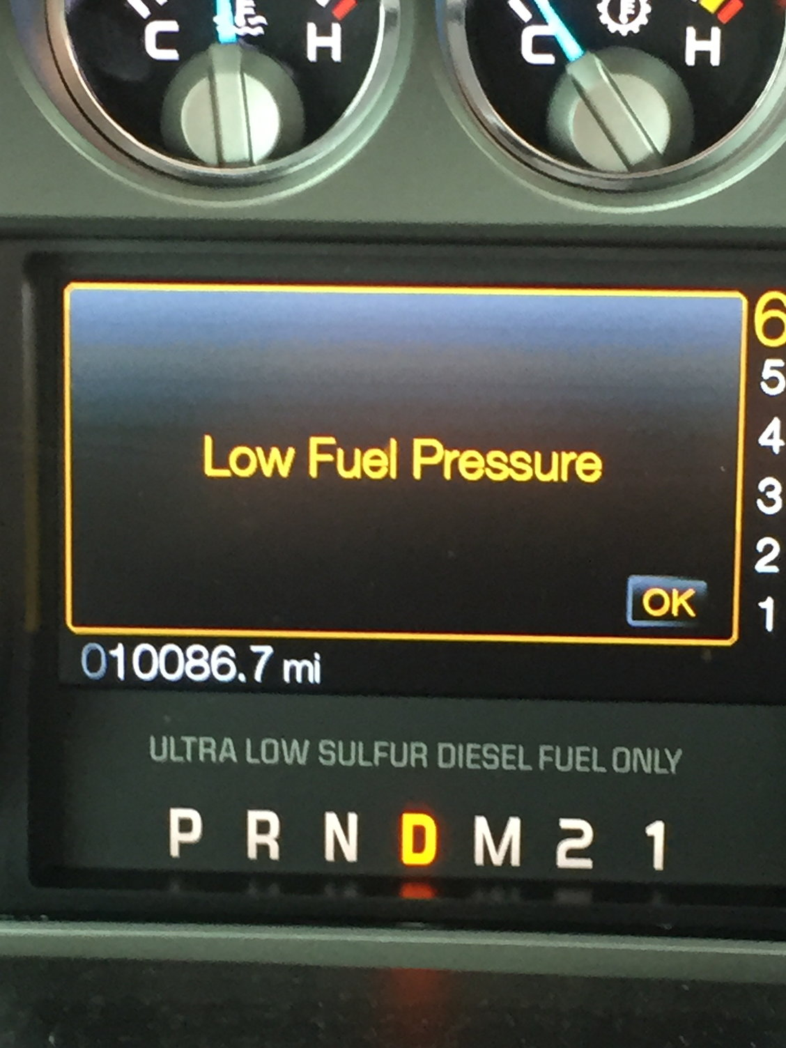 hight resolution of i assume it s the fuel system starving calling the dealer now but going to continue pressing on cautiously until the truck tells me otherwise