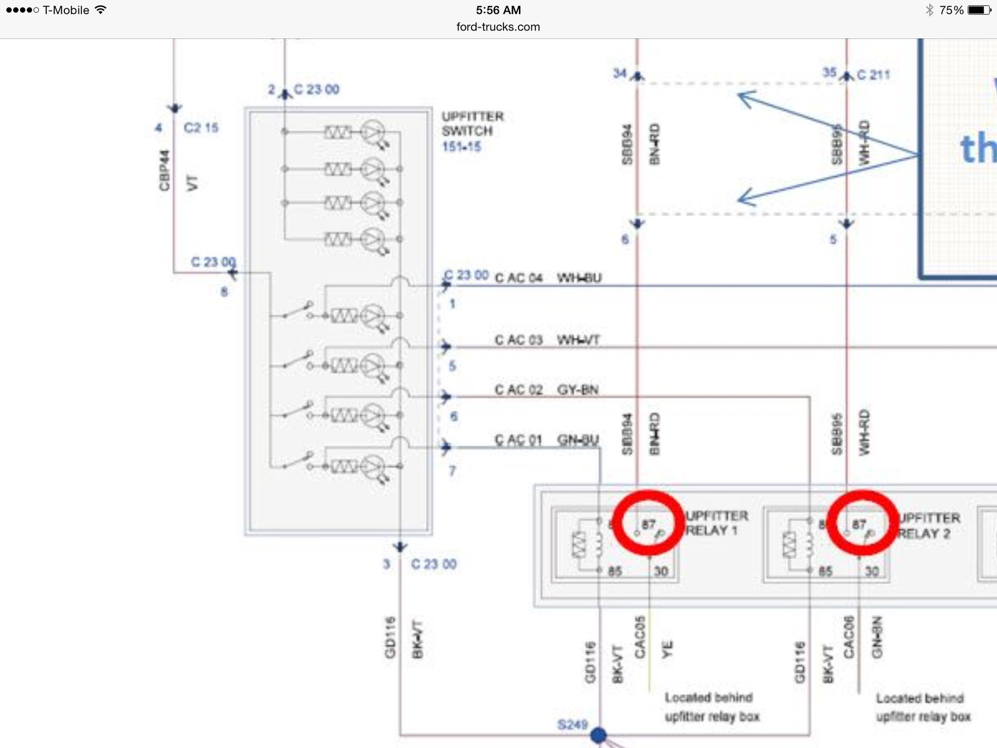 hight resolution of look at the left side of the upfitter switches for the circuit i m talking about