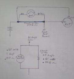 how to swap amp meter to volt meter ford truck enthusiasts forums alternator gauge wiring help ford truck enthusiasts forums [ 2000 x 1500 Pixel ]