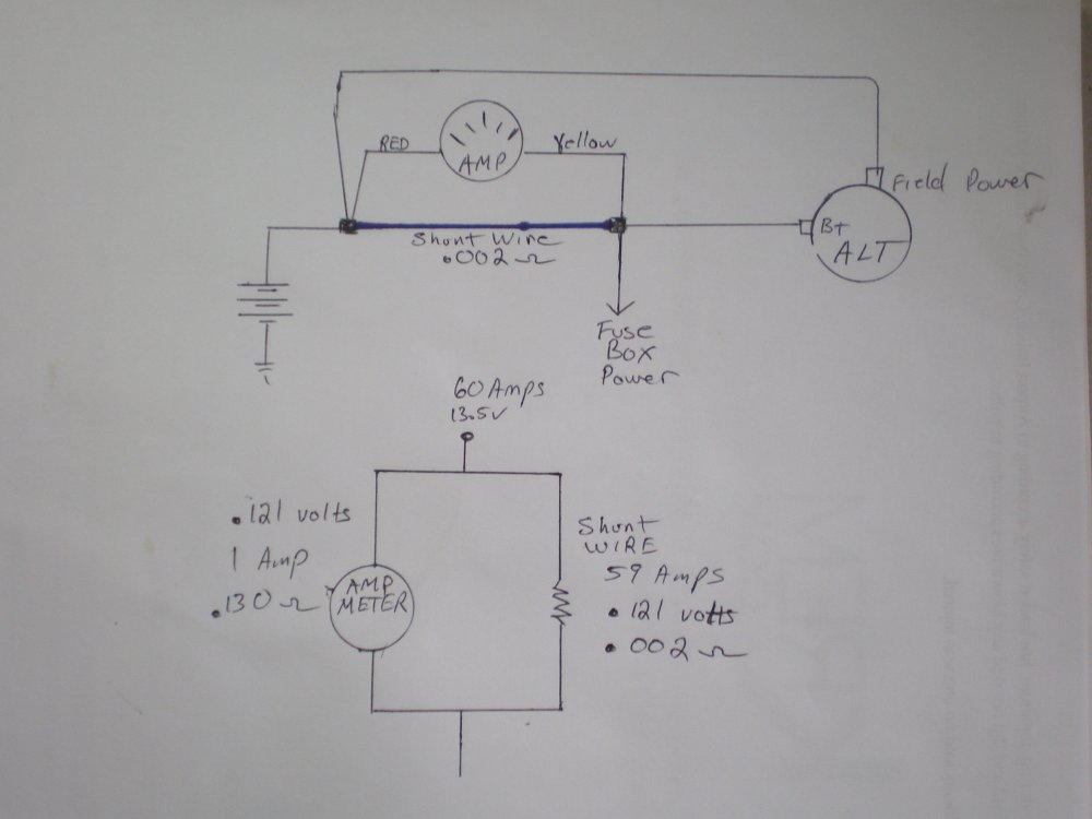 medium resolution of how to swap amp meter to volt meter ford truck enthusiasts forums alternator gauge wiring help ford truck enthusiasts forums