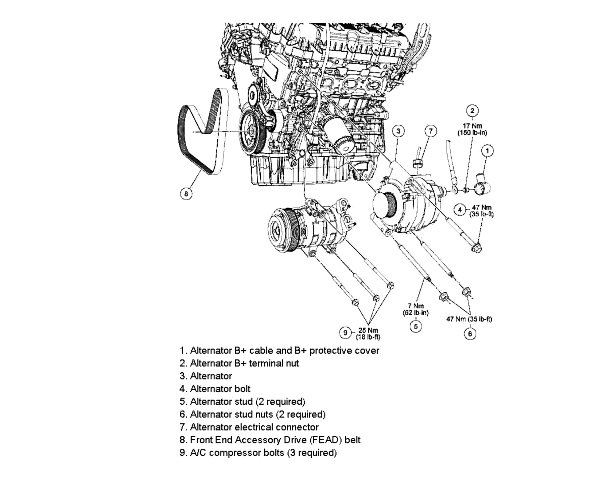 Alternator Replacement 12 3 0 V6
