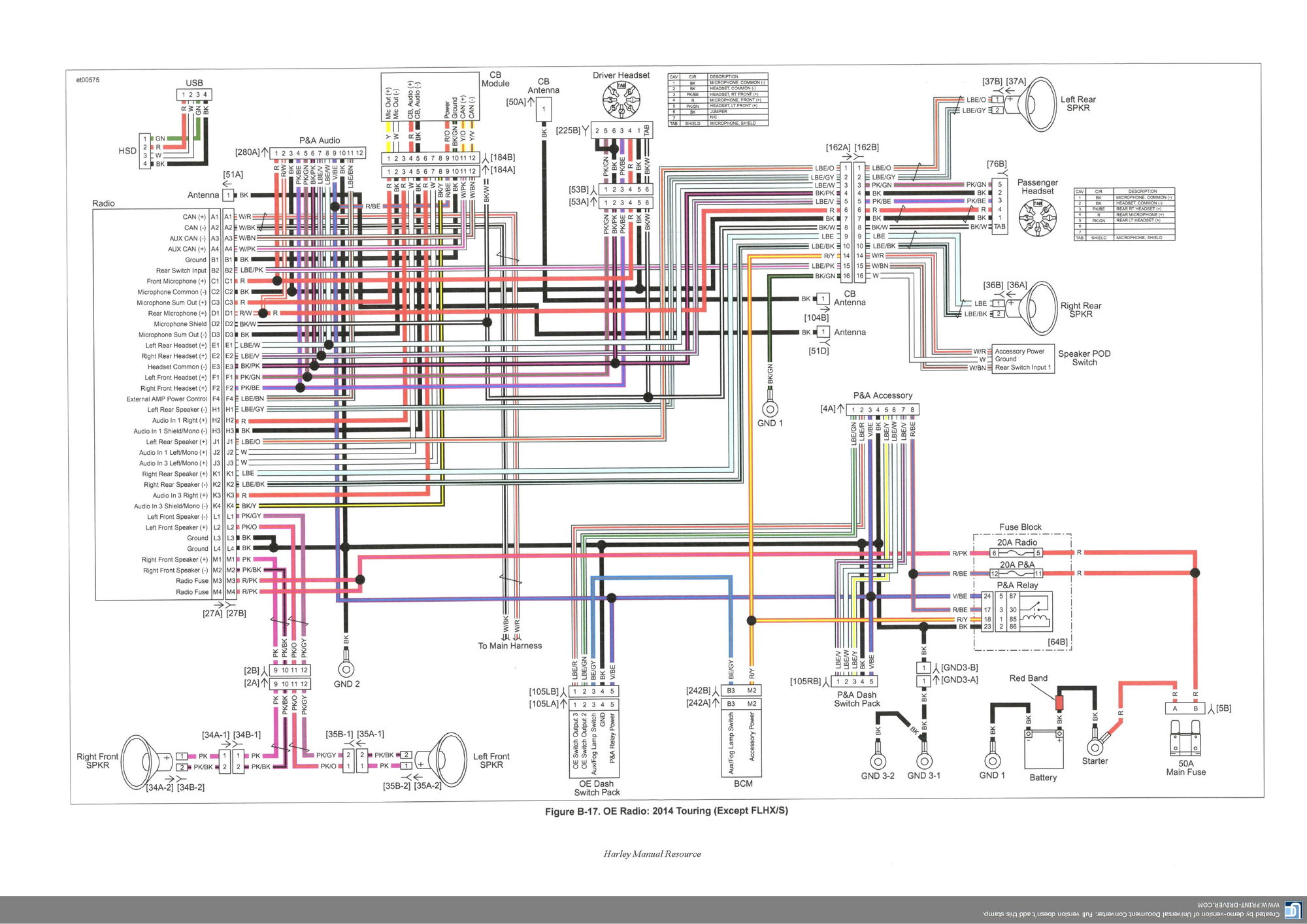 2013 Street Glide Wire Diagram Harley Road Wiring