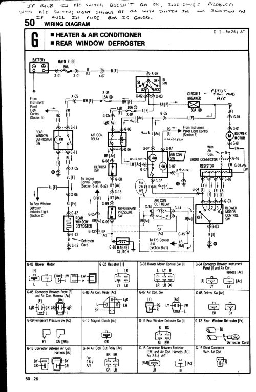 small resolution of one can also test the wire to the ac clutch itself to see if that has 12 volts positive when the ac is switched on