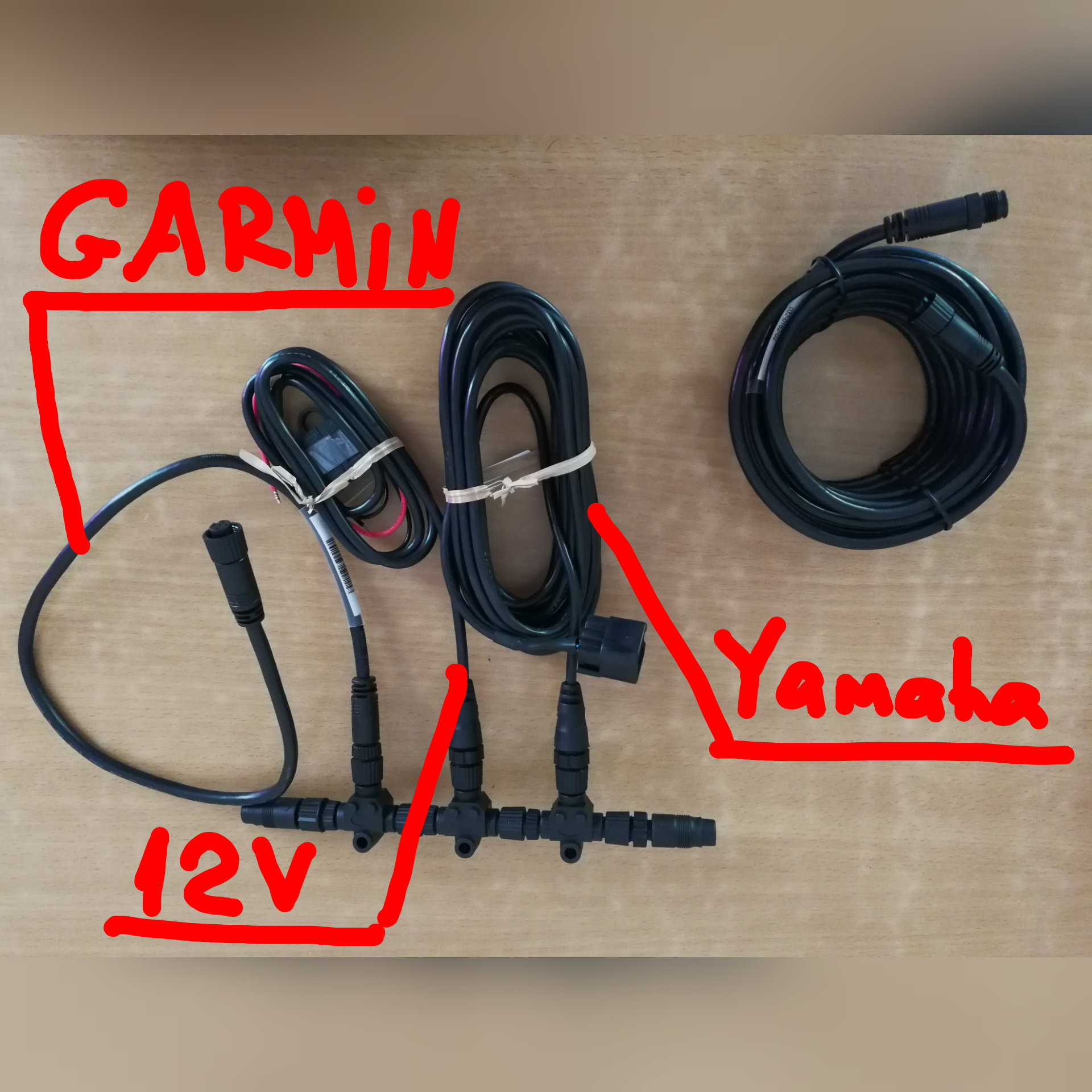 hight resolution of  the failure is either in the settings of garmin or in that garmin unlike lowrance does not support the data transfer protocol from the yamaha engine