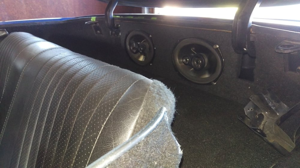 medium resolution of still have speakers in the rear panels just wanted a grilless look cause i like the look of perforated leather matches the door panels seats