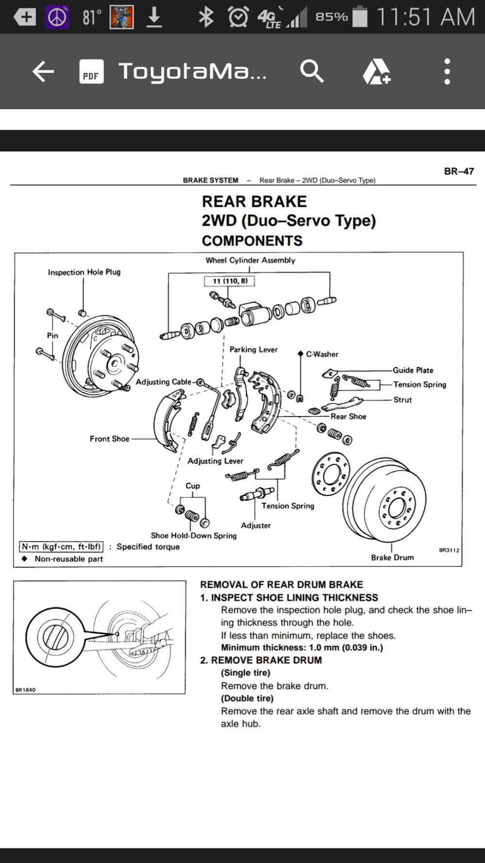 medium resolution of therein lies my problem apparently the duo servo rear drum brakes are extremely rare