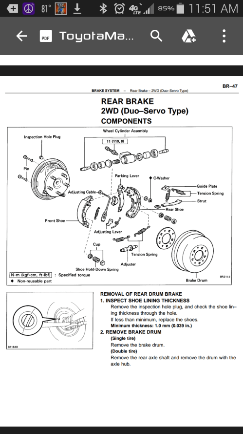 small resolution of therein lies my problem apparently the duo servo rear drum brakes are extremely rare