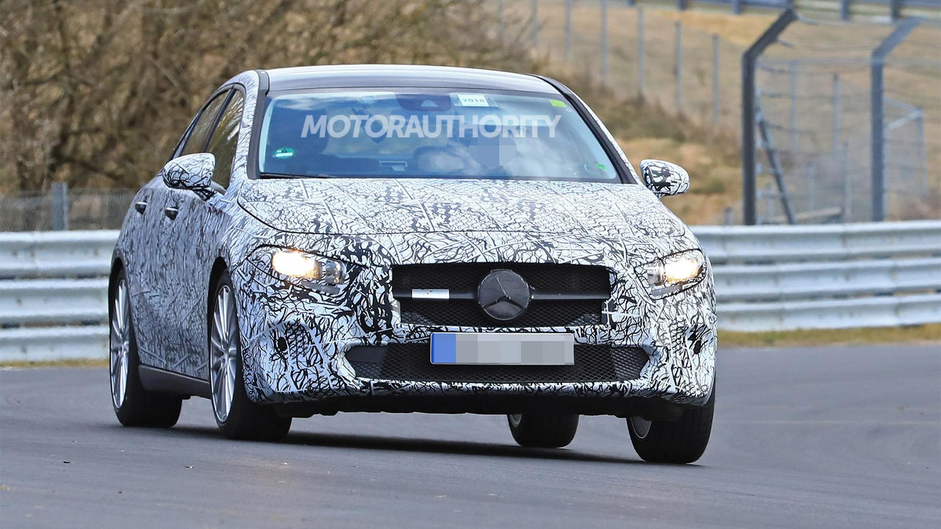 2019 Mercedes Benz A Class Sedan Spy Shots And Video