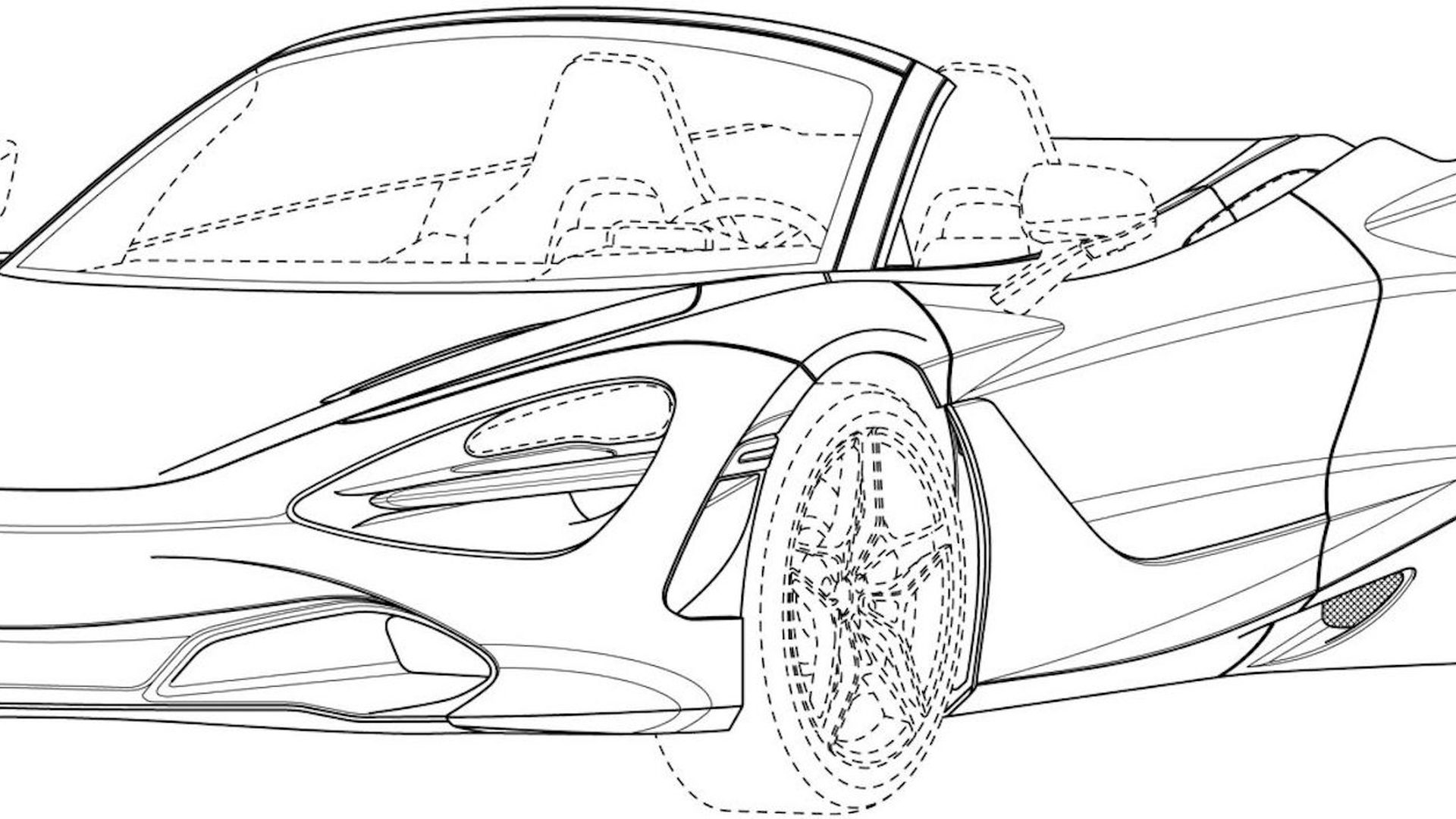 hight resolution of mclaren 720s spider patent drawings