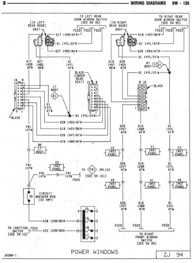 diagram 2002 jeep grand cherokee window diagram full