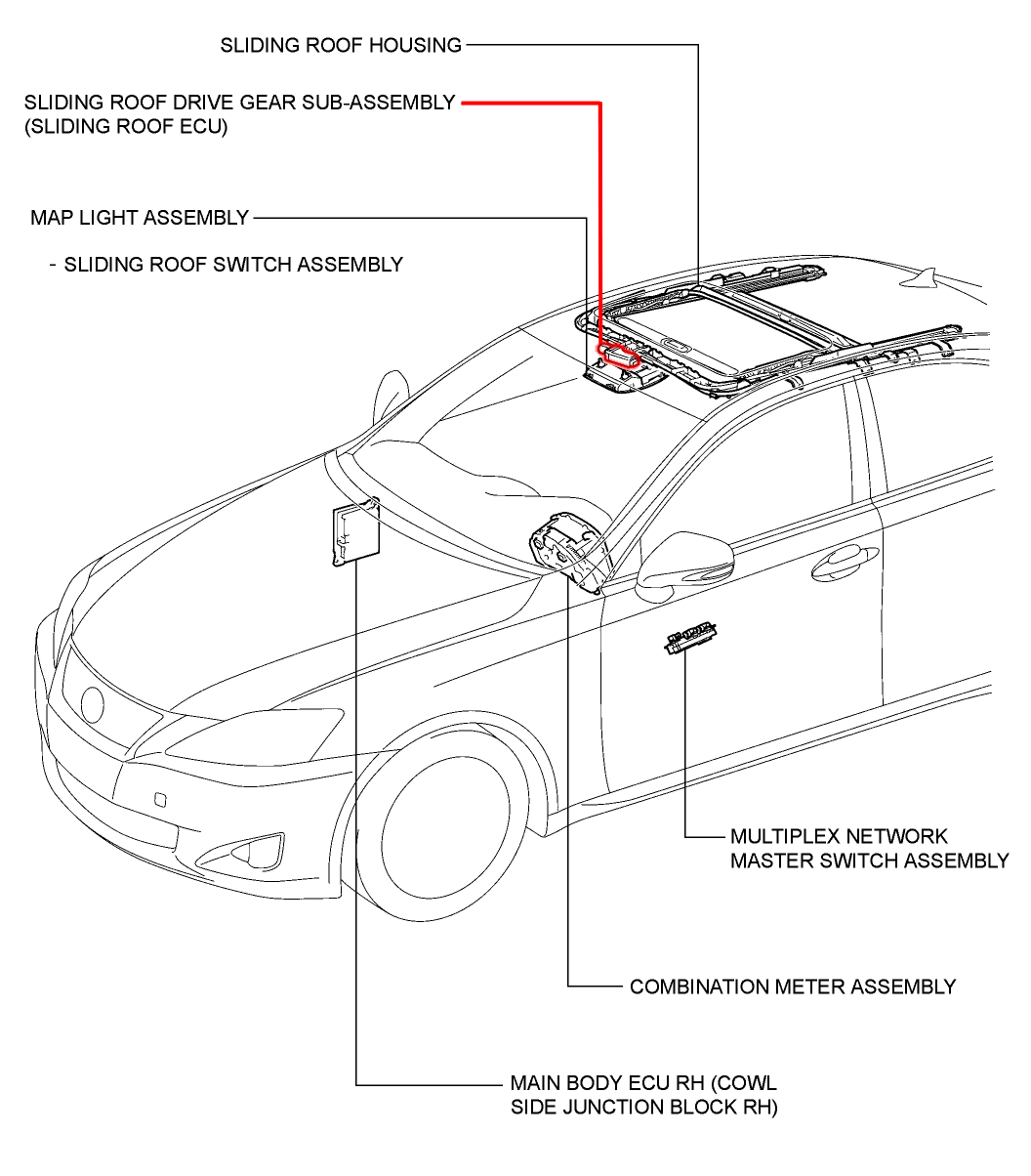 Lexus How To Replace Sunroof Moonroof Motor
