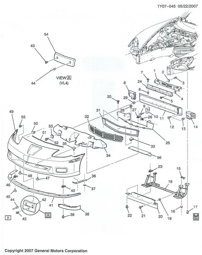 C6 Corvette Body Parts Diagram. Corvette. Wiring Diagram