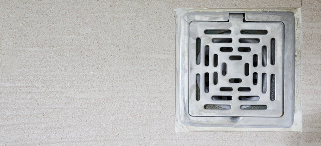 install a drain in your concrete floor
