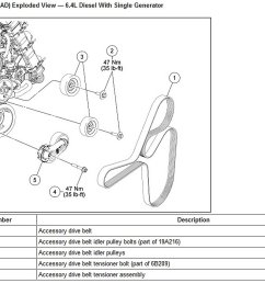ford f150 f250 how to replace idler and tension pulleys ford trucks 2004 f150 5 4 engine diagram 2005 4 6l ford f 150 engine pulley diagram [ 1500 x 956 Pixel ]