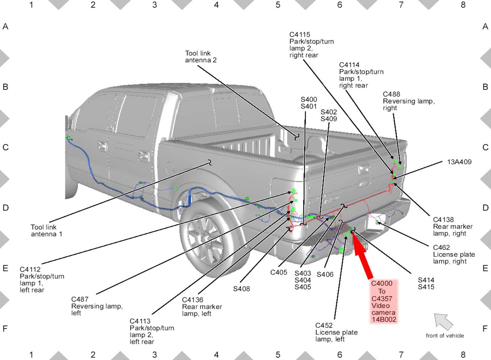 2010 ford f150 reverse wire for wireless backup camera