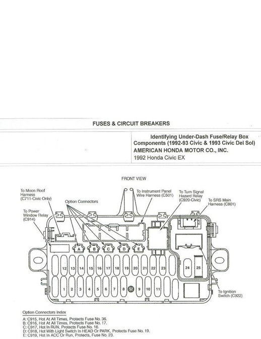 [DIAGRAM] 97 Civic Fuse Box Diagram FULL Version HD