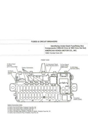 Honda Civic Fuse Box Diagrams  HondaTech
