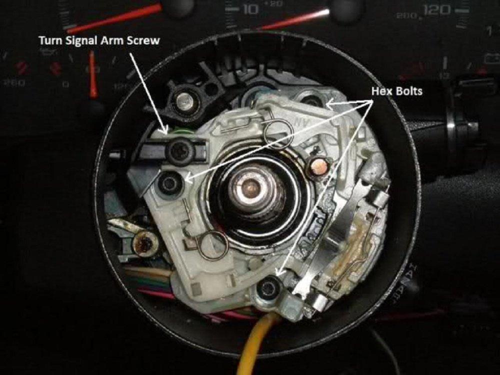 medium resolution of  fbodyturnsignalarm 146955 camaro firebird and corvette steering column disassembly ls1tech 1989 silverado steering column diagram at