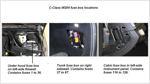 small resolution of location of w204 fuse boxes