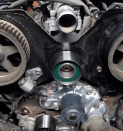 toyota tacoma tundra 4runner 3 4 v6 5uzfe timing belt kit water pump replace remove how to [ 1024 x 768 Pixel ]