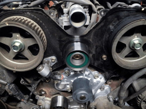 small resolution of toyota tacoma tundra 4runner 3 4 v6 5uzfe timing belt kit water pump replace remove how to
