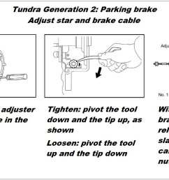 toyota tundra sequoia parking brake drum shoe replacement adjust how to diy [ 1601 x 901 Pixel ]