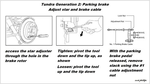 small resolution of toyota tundra sequoia parking brake drum shoe replacement adjust how to diy