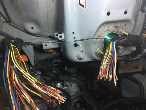 small resolution of this is the headlight wiring coming from the fuse box to the headlights 34 wires 33 to go how can i distinguish which wires are which because some