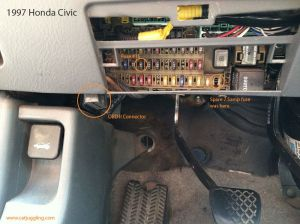 Help with OBD location  HondaTech  Honda Forum Discussion