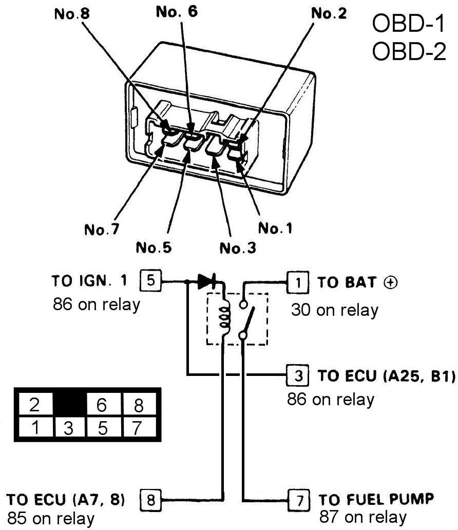 1994 Honda Accord Main Relay Wiring Diagram