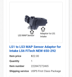 an ls1 to ls3 adaptor block for map sensor now i don t have to ream out the hole for the bigger ls3 9 map sensor it will just piggyback off of stock  [ 1080 x 1920 Pixel ]