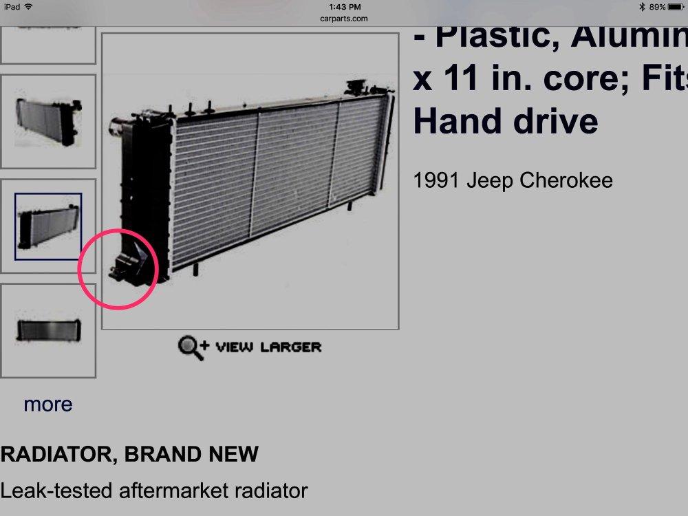 medium resolution of radiator leak lower passenger side missing hose