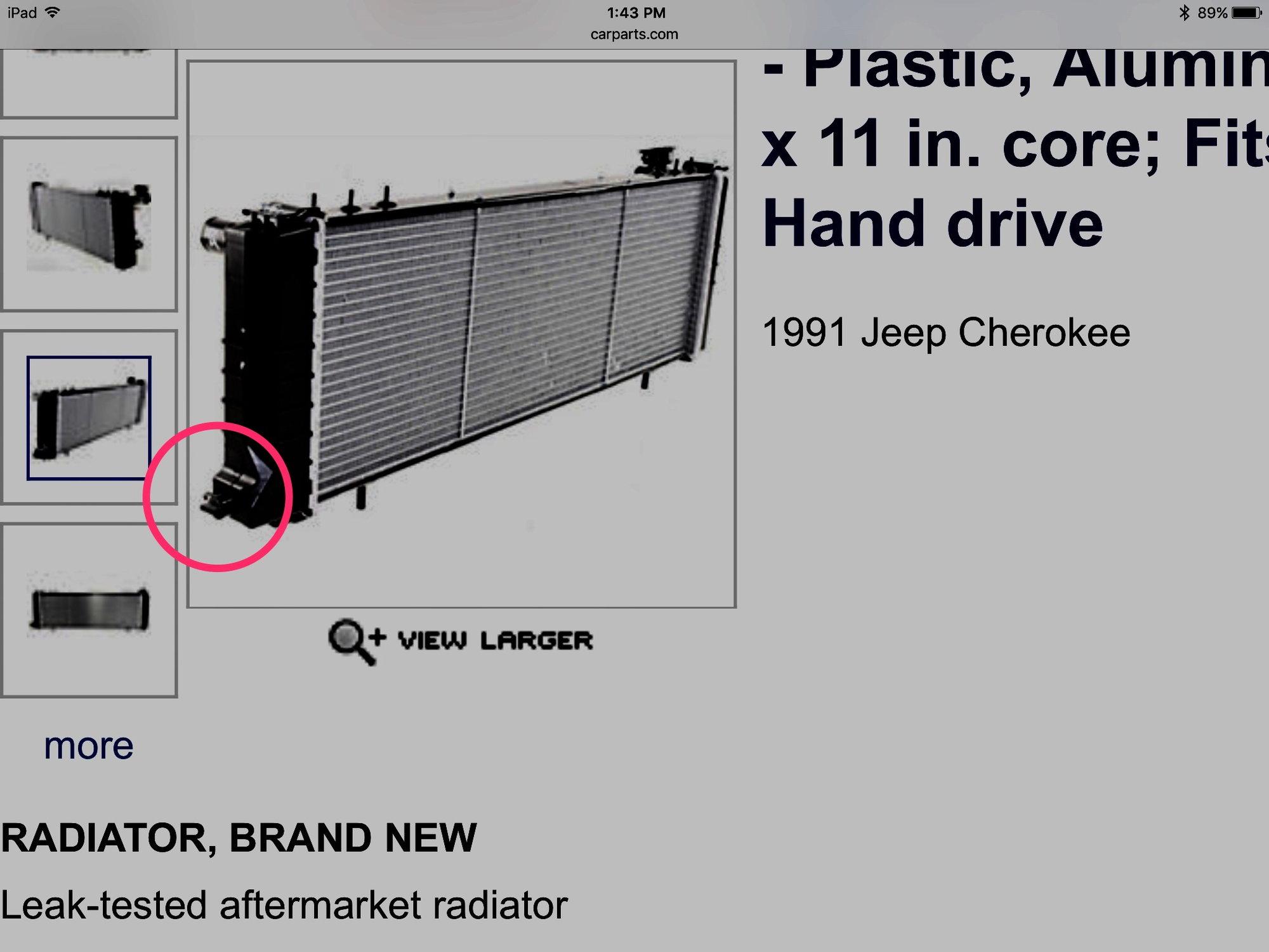 hight resolution of radiator leak lower passenger side missing hose
