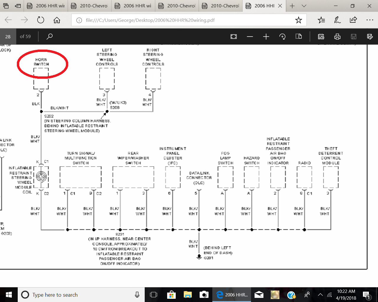 hight resolution of not sure if this helps but it shows the ground wire schematic horn wiring chevy hhr