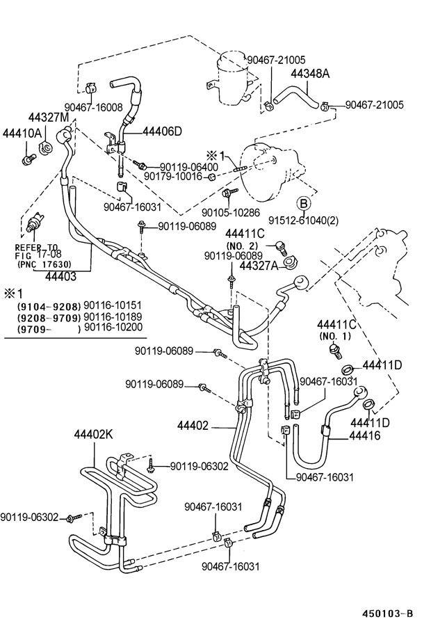 '98 SC400 Power Steering Pressure Hose Parts Help