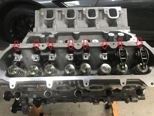 small resolution of now go ahead and install the rocker arms and bolts finger tight for all valves if you had your heads ported then there is a good chance that the intake