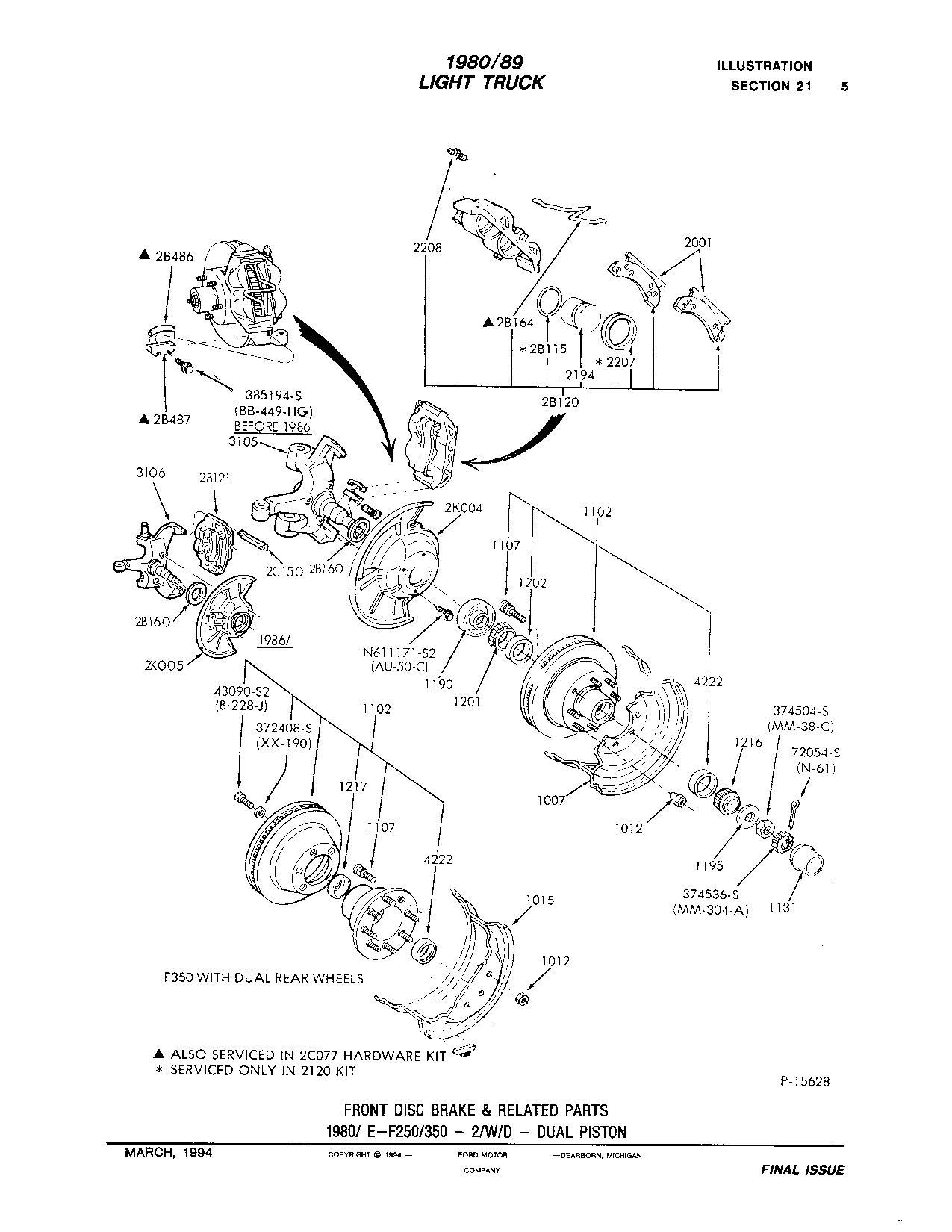 F350 Dually Front Hub Diagram