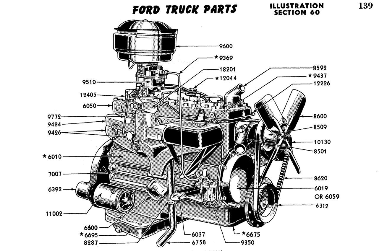 1956 Ford 312 Engine Diagram. 1956. Tractor Engine And
