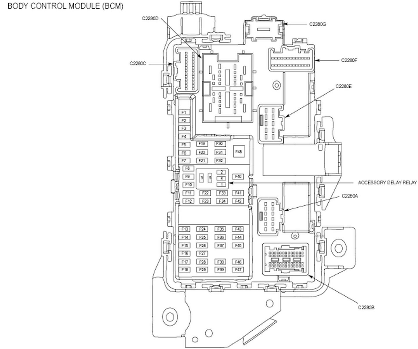 2012 Ford Body Control Module Wiring Diagram : 44 Wiring
