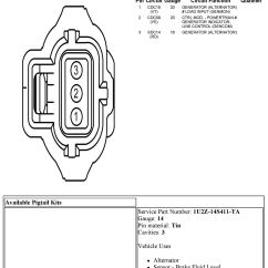 3 Pin Alternator Wiring Diagram Cat 5 Crossover 2011 6 7 Cc Battery Light On The Dash Ford Truck