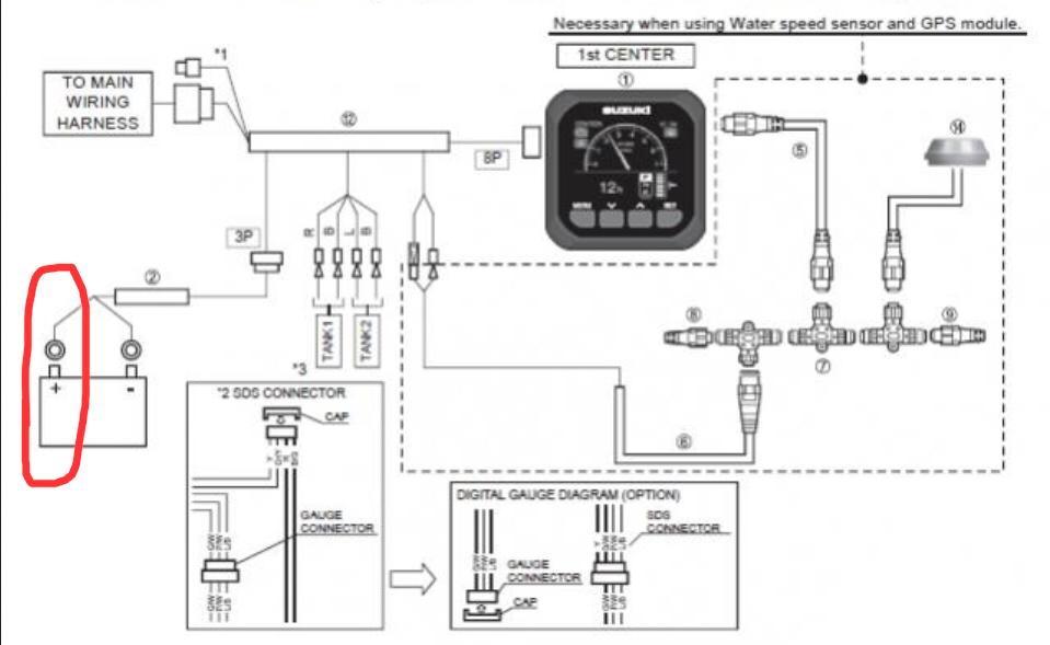 Suzuki Outboard Multifunction Gauge Wiring Diagram