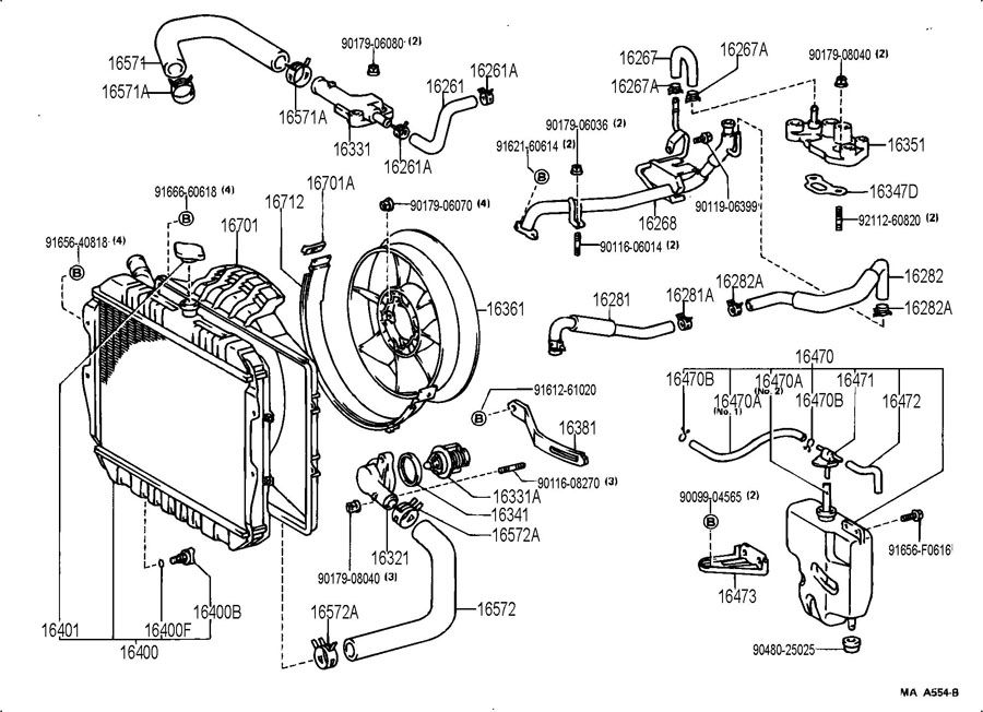 1995 Toyota 4runner Heater Hose Diagram