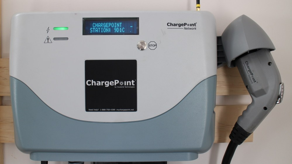 medium resolution of garage older chargepoint electric car charging station