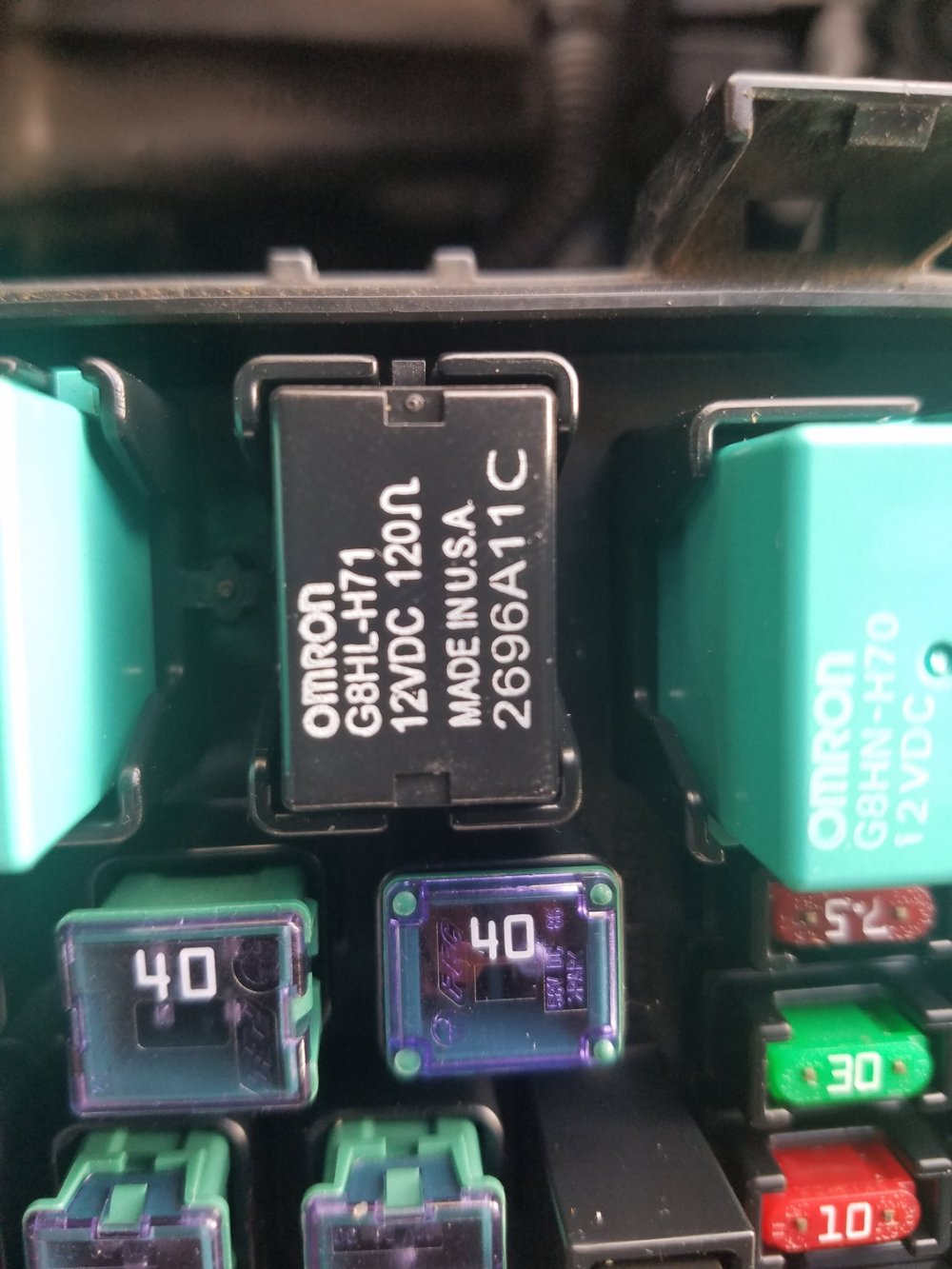 medium resolution of above is oem relay in under hood fuse box