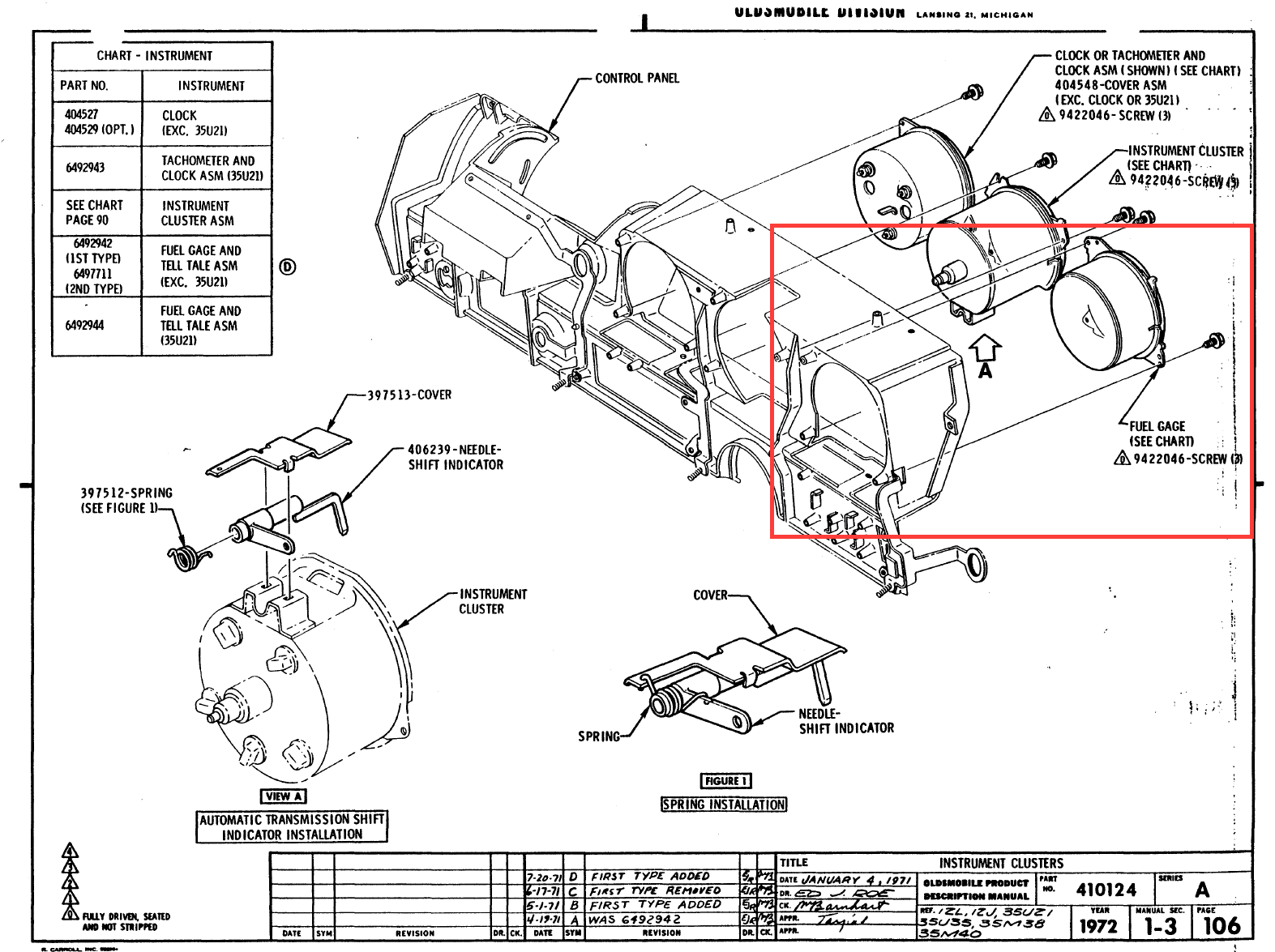 Cutlass Instrument Wiring Diagram