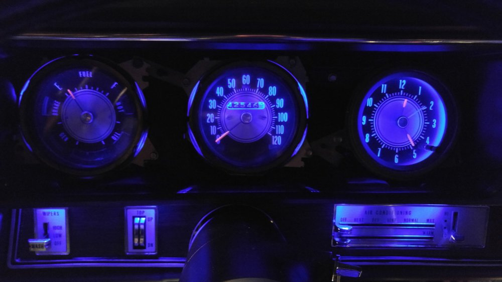 medium resolution of  with the rally temp oil gas gauge and have the blue leds with mine nice to see what my dash will look like sometime during this show season