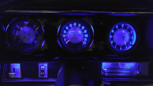 small resolution of  with the rally temp oil gas gauge and have the blue leds with mine nice to see what my dash will look like sometime during this show season