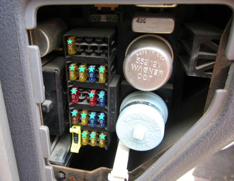 1996 dodge ram 1500 slt fuse box