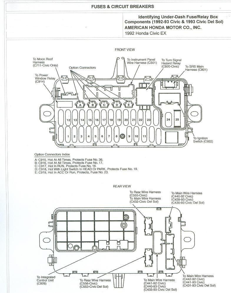 FUSE BOX DIAGRAM FOR 1997 HONDA CRV - Auto Electrical ...