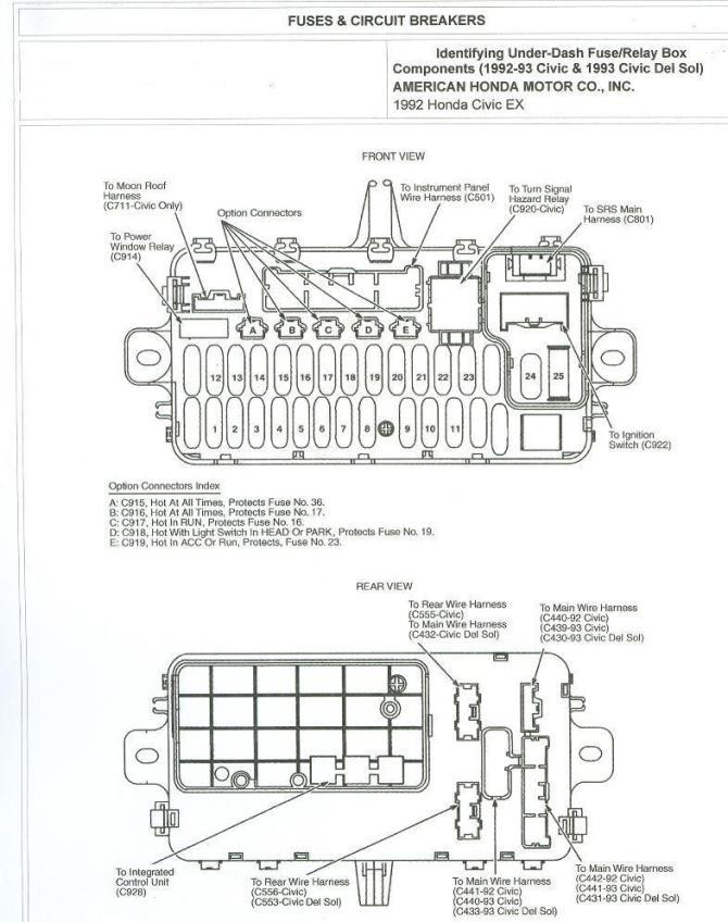 91 honda civic fuse box diagram  ford taurus headlight
